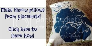 make pillows out of placemats,throw pillows